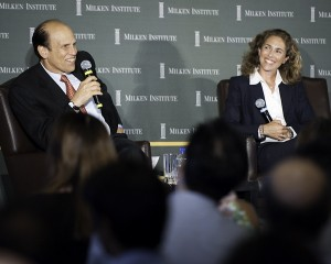 Being interviewed by Mike Milken at the Milken Institute